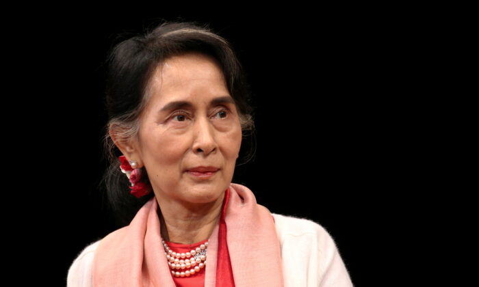 Burma's Minister of Foreign Affairs Aung San Suu Kyi speaks during an event at the Asia Society Policy Institute in New York City, on Sept. 21, 2016. (Bria Webb/Reuters)