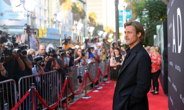 "Brad Pitt attends the premiere of 20th Century Fox's ""Ad Astra"" at The Cinerama Dome on September 18, 2019 in Los Angeles, Calif. (Matt Winkelmeyer/Getty Images)"