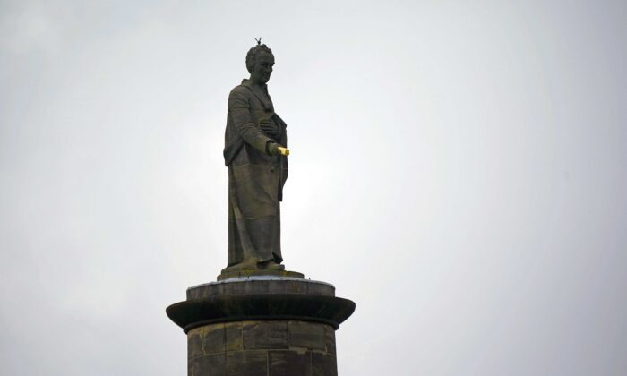 The statue of William Wilberforce is seen in Hull, UK, on June 10, 2020. (Christopher Furlong/Getty Images)