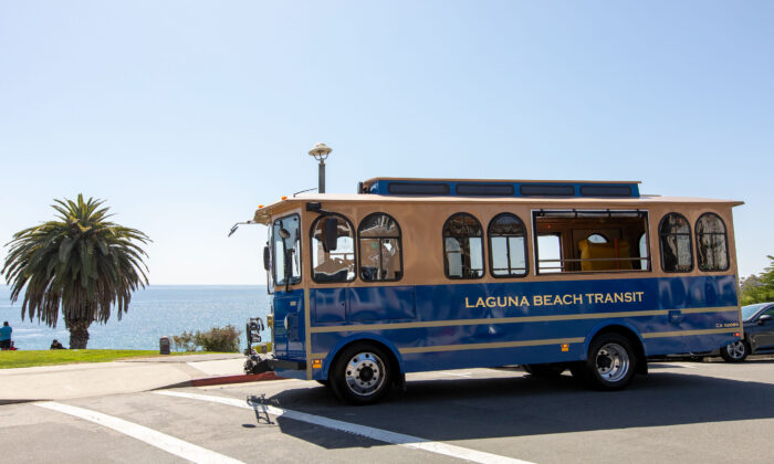 Laguna Beach's free trolley service resumes operations in June. (Courtesy of Visit Laguna Beach)