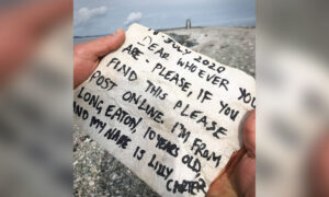 Little Girl in UK Throws Message in a Bottle Asea and It Gets Returned From Finder in Norway