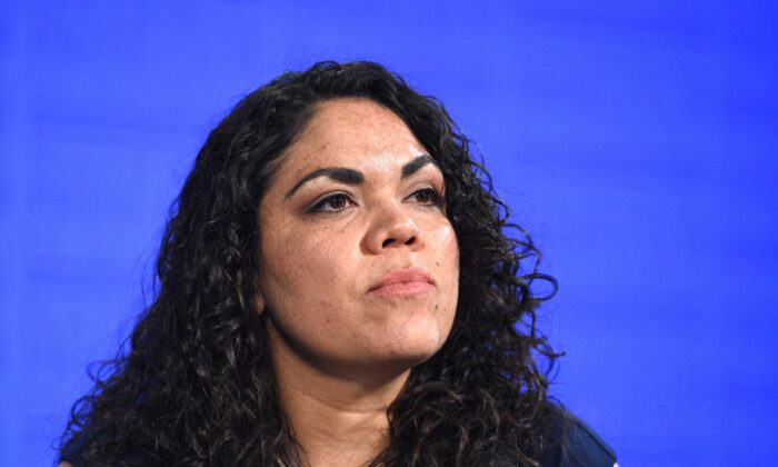 Elected member of the Alice Springs Council Jacinta Price at the National Press Club in Canberra, Thursday, Nov. 17, 2016. (AAP Image/Mick Tsikas)