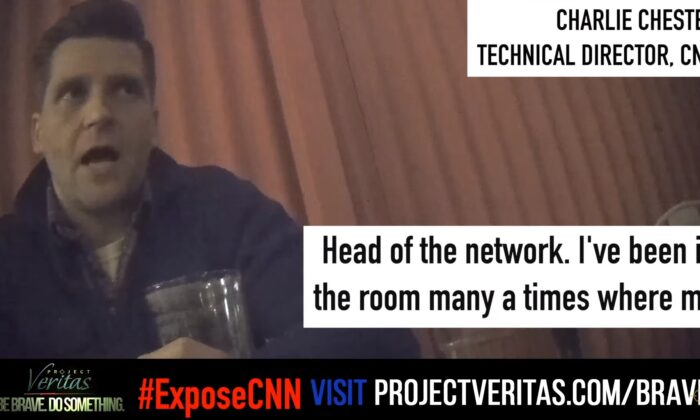 CNN Technical Director Charlie Chester as recorded on hidden camera by Project Veritas. (Project Veritas)