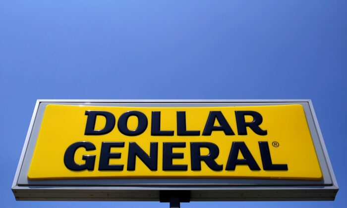 A sign is seen outside a Dollar General store in Chicago, Ill., on May 23, 2016. (Jim Young/Reuters)