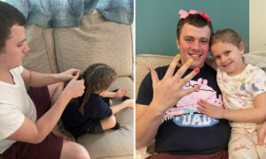 Man Hailed As 'World's Best Dad' After He Learned to Style Hair to Play With His Daughter