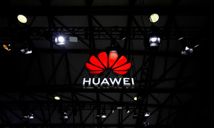 A Huawei logo is seen at the Mobile World Congress (MWC) in Shanghai, China, on Feb. 23, 2021. (Aly Song/Reuters)