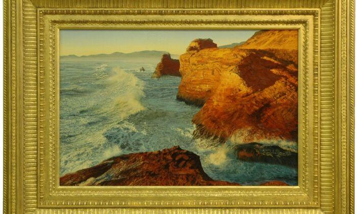 """Cape Kiwanda, Oregon,"" 2011, by Steve Wineinger. Oil on canvas; 24 inches by 36 inches.(Steve Wineinger)"