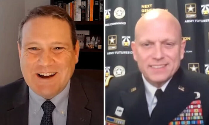 U.S. Army MG Richard Coffman (Right) was speaking at the webinar held by the Center for Strategic and International Studies (CSIS) on March 10, 2021. (Screenshot of the webinar)