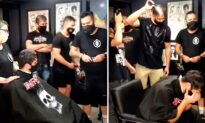 Video Shows Cancer Patient's Reaction at Barber Shop When Staff Unexpectedly Shave Their Heads