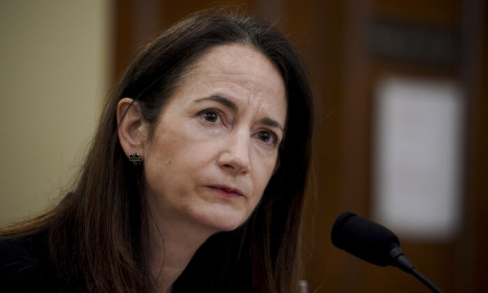 Avril Haines, director of national intelligence, listens during a House Intelligence Committee hearing in Washington on April 15, 2021. (Al Drago-Pool/Getty Images)