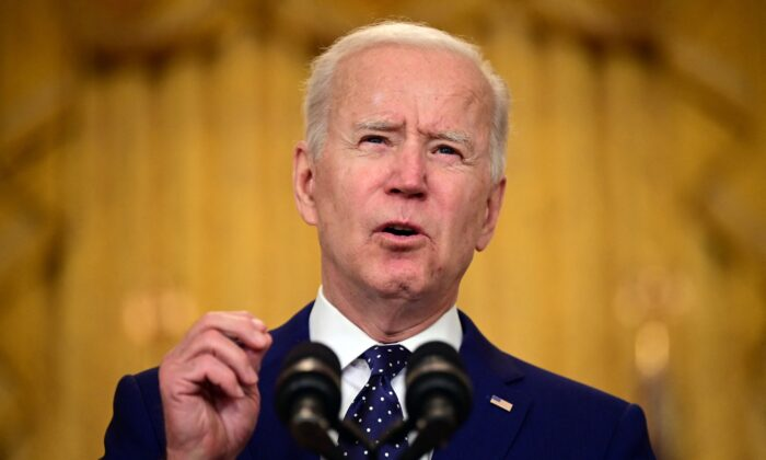President Joe Biden at the White House in Washington on April 15, 2021. (Jim Watson/AFP via Getty Images)
