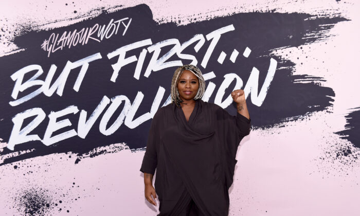 Black Lives Matter cofounder Patrisse Khan-Cullors poses during Glamour Celebrates 2017 Women Of The Year Live Summit at Brooklyn Museum in New York City on Nov. 13, 2017. (Ilya S. Savenok/Getty Images for Glamour)