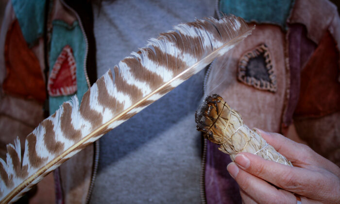 Sage burning has been a tradition of Native Americans for hundreds of years. (Jeff Perkin)