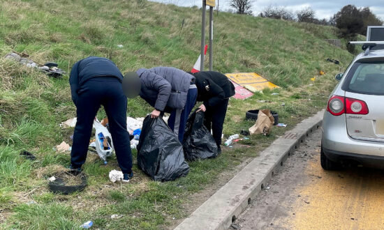 Police Escort Fly-Tippers 5 Miles Back to Piles of Rubbish, Make Them Pick It Up