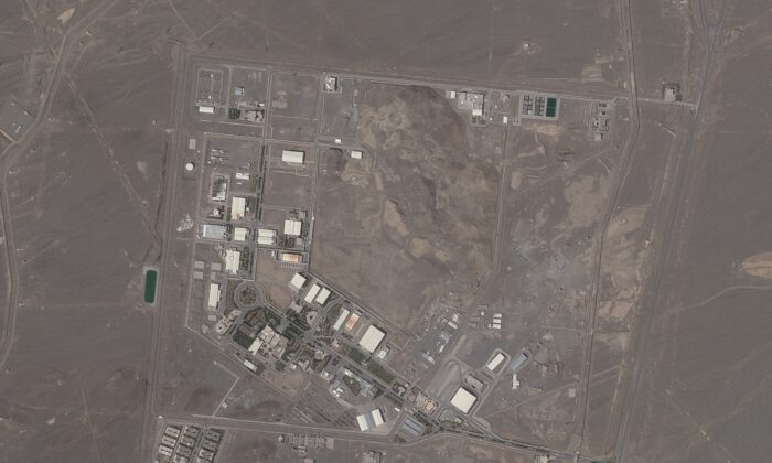 A satellite photo from Planet Labs Inc. shows Iran's Natanz nuclear facility, Iran, on April 14, 2021. (Planet Labs via AP)