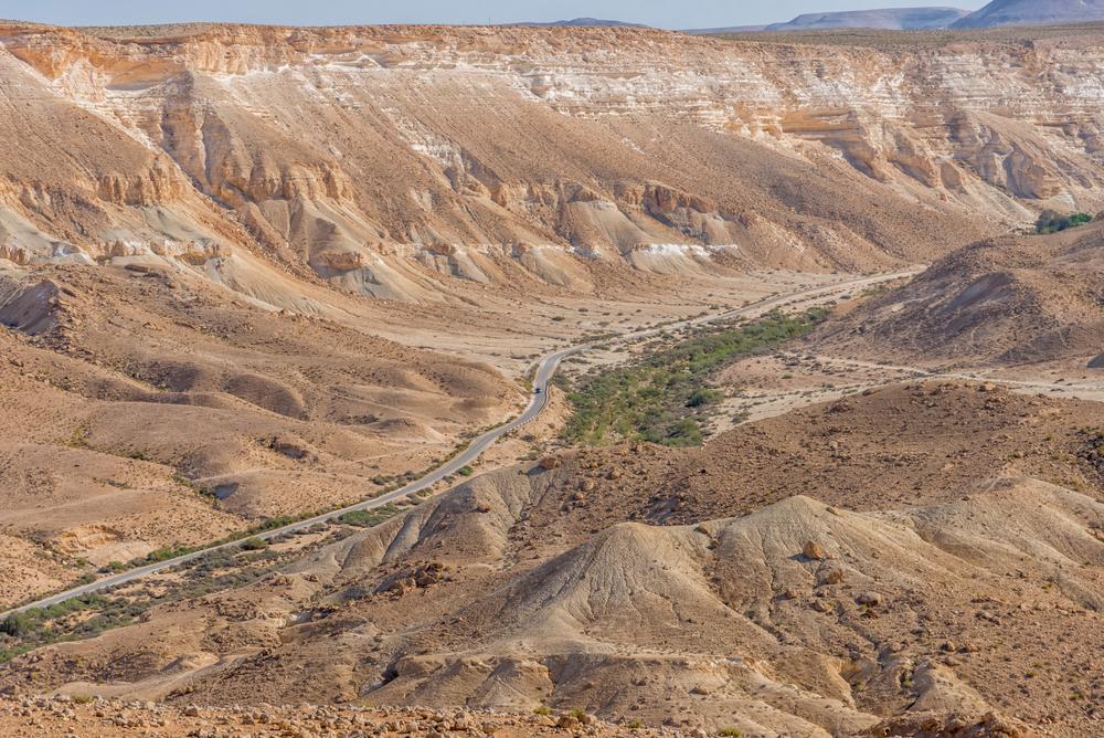 Zin,Valley,In,The,Middle,Of,Negev,Desert,In,Israel.