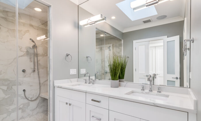 Just replacing the cabinets and vanity is the typical do-it-yourself bathroom remodeling project.  (Joe Hendrickson/Shutterstock)