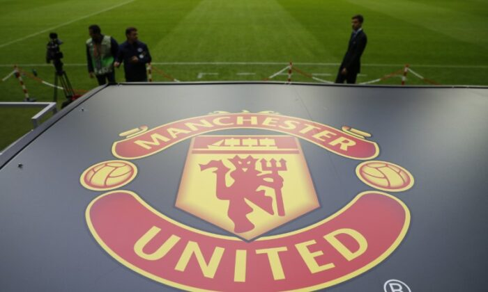 General view of the Manchester United logo ahead of the Europa League Final, Stockholm, Sweden, on May 23, 2017. (Phil Noble Livepic/ Reuters)