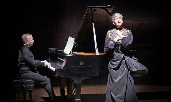 "Mezzo-soprano Joyce DiDonato, accompanied by Yannick Nézet Seguin, singing Schubert's ""Winterreise."" ((Warner Classics)"