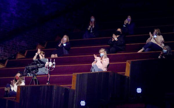 Vanderbilt medical workers seat in the audience
