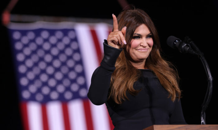 Kimberly Guilfoyle speaks during a Republican National Committee Victory Rally at Dalton Regional Airport in Dalton, Ga., on Jan. 4, 2021. (Alex Wong/Getty Images)
