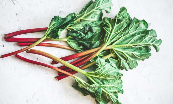 Rhubarb can come in as early as April and will be done by the end of June. (Kate Grishakova/shutterstock)