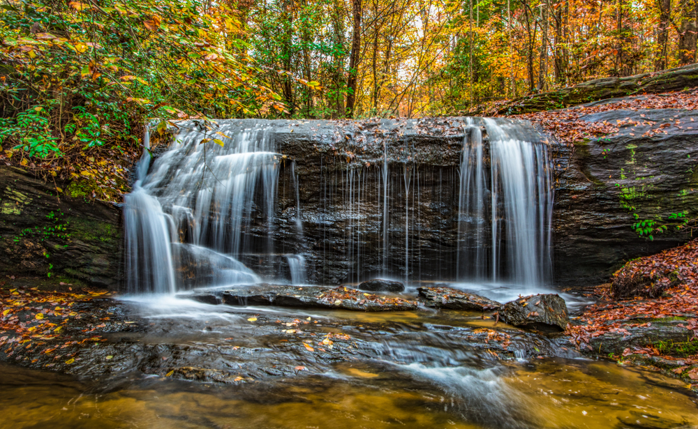 Wildcat,Falls,Near,Table,Rock,State,Park,In,Greenville,,South