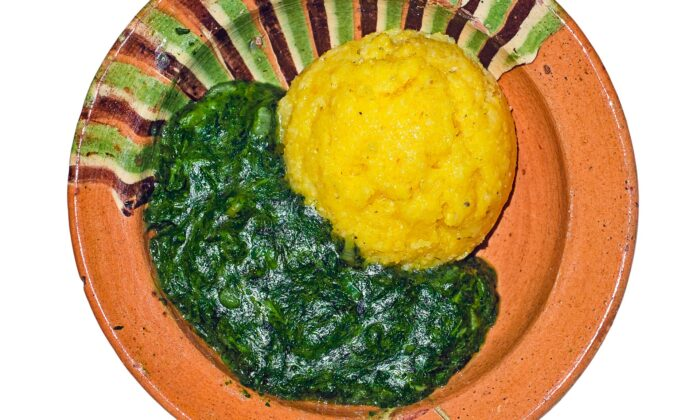Romanians often debate over methods of preparing this popular nettle dish, but they all agree upon serving it with polenta. (Roberto Sorin/shutterstock)