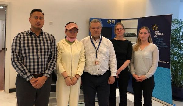 Consulate officials met the mother of a 21-year-old man who was sentenced to 14 years in jail for posting information about Xi Jinping's daughter online. (Provided to The Epoch Times)