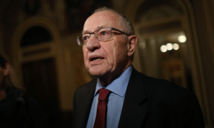 Attorney and law professor Alan Dershowitz is seen in Washington on Jan. 29, 2020. (Mario Tama/Getty Images)