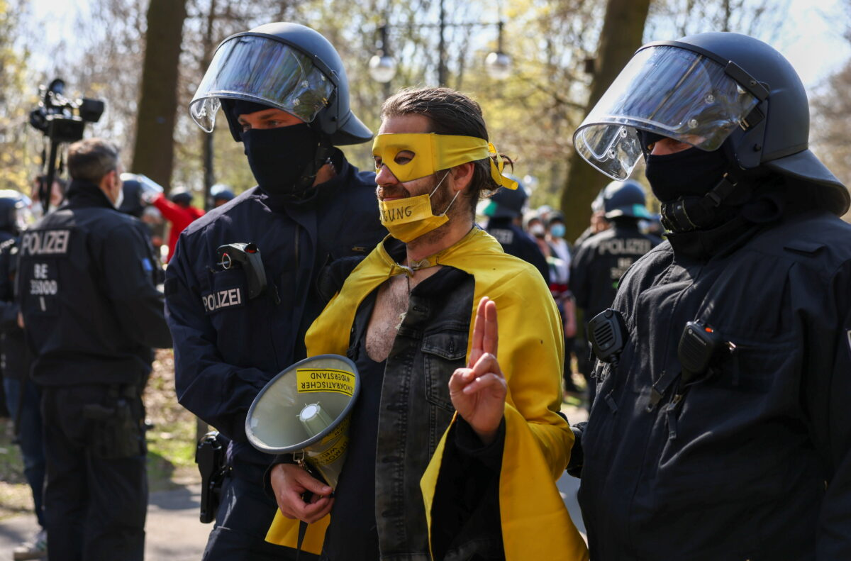 Protest against COVID-19 restrictions in Berlin