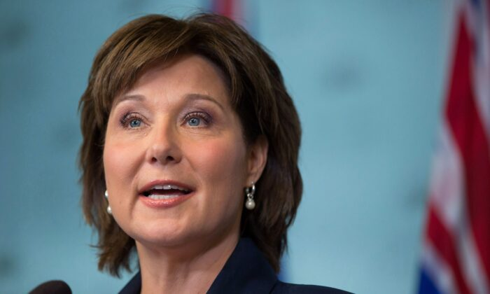 Former B.C. premier Christy Clark in a file photo. (The Canadian Press/Darryl Dyck)