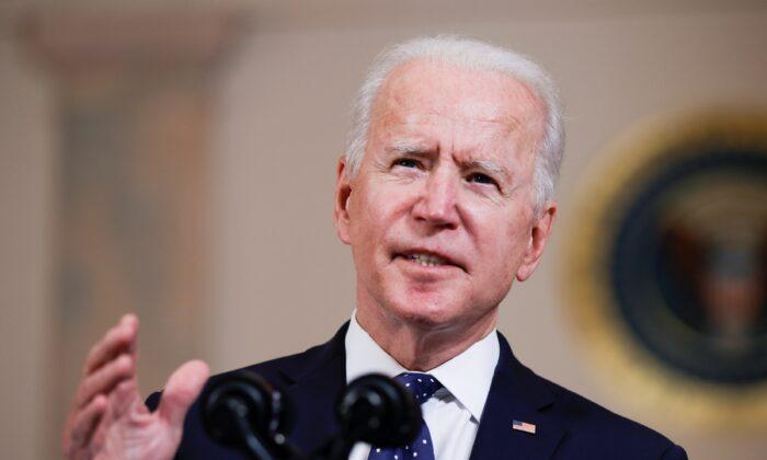 President Joe Biden speaks at the White House in Washington on April 20, 2021. (Tom Brenner/Reuters)
