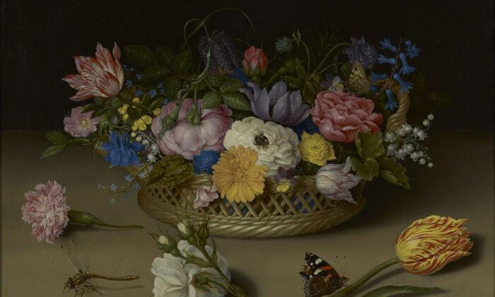 Flower Still Life; Ambrosius Bosschaert the Elder (Dutch, 1573 - 1621); 1614; Oil on copper; 30.5 × 38.9 cm (12 × 15 5/16 in.); 83.PC.386; No Copyright - United States (http://rightsstatements.org/vocab/NoC-US/1.0/)