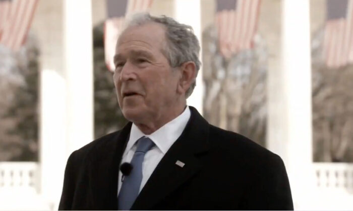 Former President George W. Bush speaks during the Celebrating America Primetime Special on Jan. 20, 2021. (Handout/Biden Inaugural Committee via Getty Images)