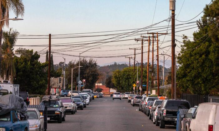 A local street in Fullerton, Calif., on Dec. 22, 2020. (John Fredricks/The Epoch Times)
