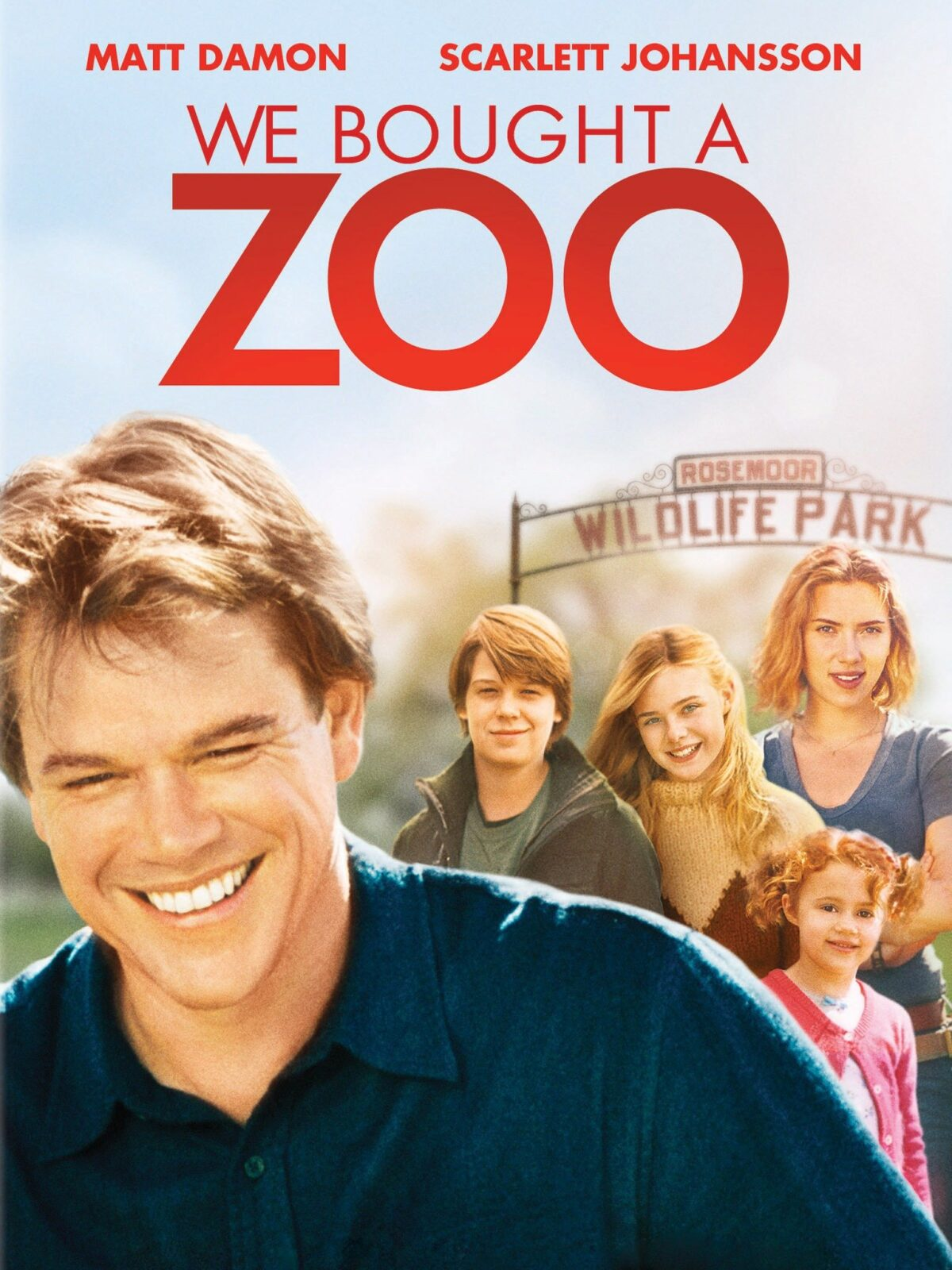 movie poster for We Bought a Zoo