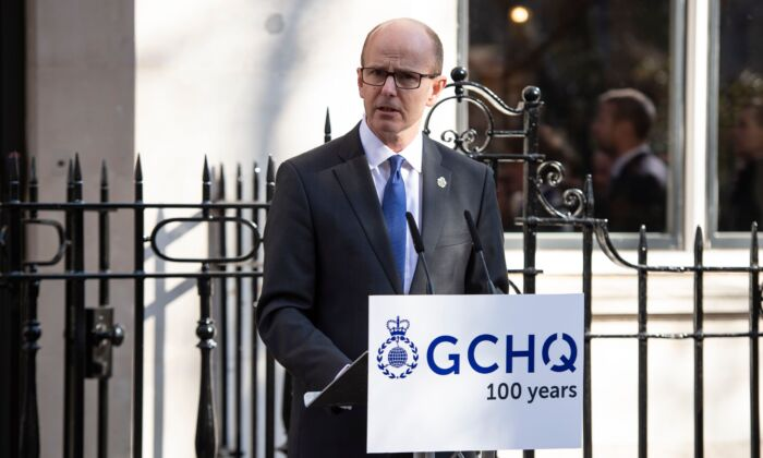 Director of Government Communication Headquarters (GCHQ) Jeremy Fleming attends an event to mark the centenary of GCHQ, the UK's Intelligence, Security and Cyber Agency, at Watergate House in London on Feb. 14, 2019. (Niklas Halle'n/AFP via Getty Images)