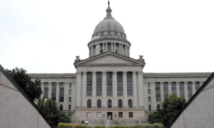 The Oklahoma State Capitol is seen in Oklahoma City, Okla., on Sept. 30, 2015. (Jon Herskovitz/Reuters)