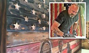 Artist Sculpts American Flag Homage to 2020 Tornado Victims, Heroic First Responders