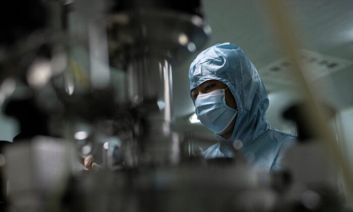 A researcher works in a Chinese biopharma lab in Shenyang, in China's Liaoning Province, on June 10, 2020. (Noel Celis/AFP via Getty Images)