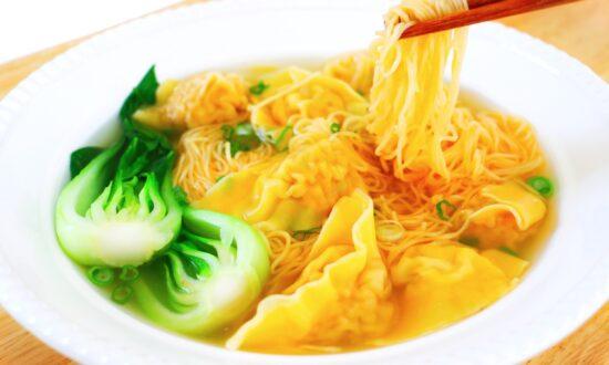 Classic Wonton Noodle Soup, From Scratch