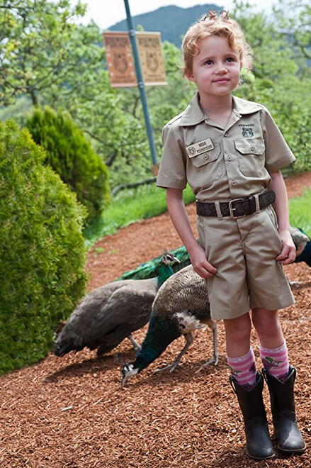 little girl in brown uniform in We Bought a Zoo
