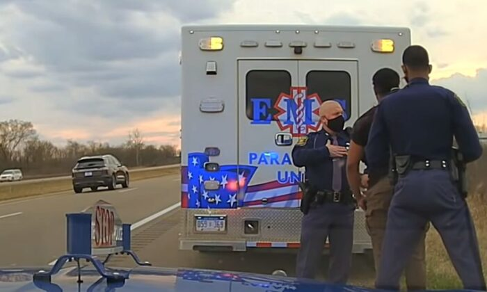 Dashcam footage shows Jones, a Democrat, being arrested after he allegedly drunkenly crashed his vehicle and arguing with police. (Michigan State Police)