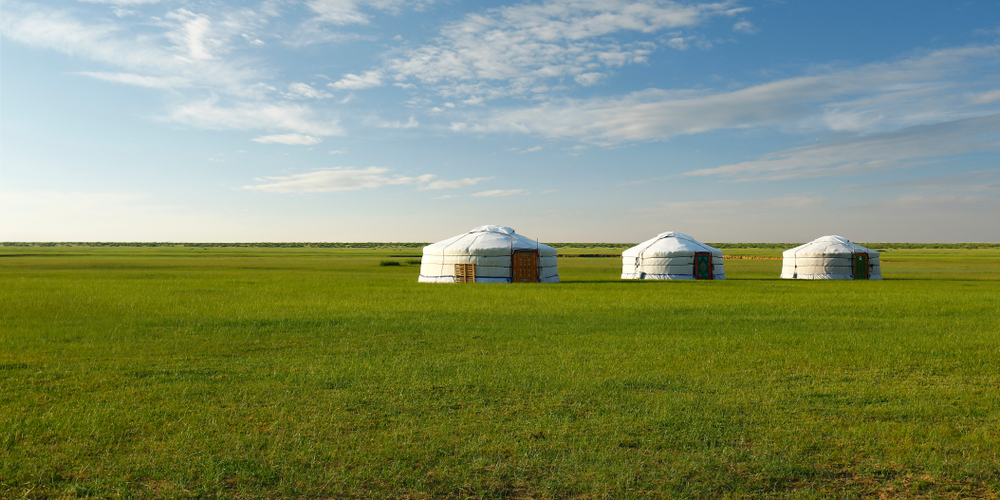 Camp,Of,Yurt,,,In,The,Grassland,Of,Mongolia