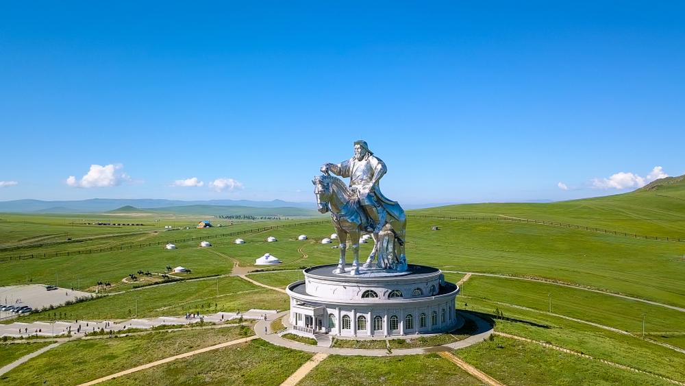 Mongolia,,Ulaanbaatar,-,August,08,,2018:,Equestrian,Statue,Of,Genghis