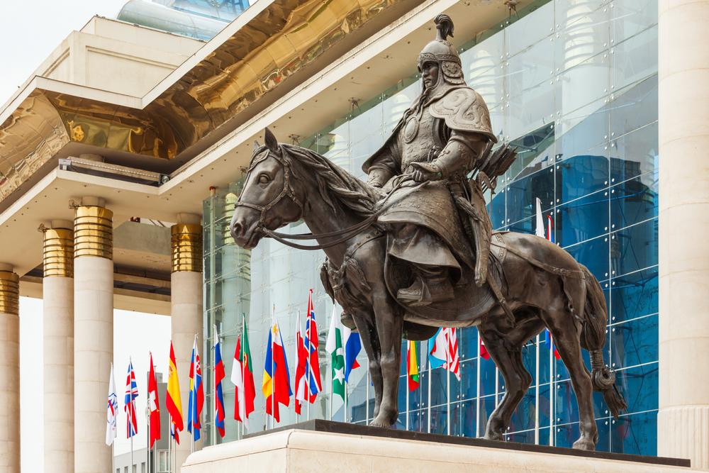 Ulaanbaatar,,Mongolia,-,July,13,,2016:,Genghis,Khan,Statue,At