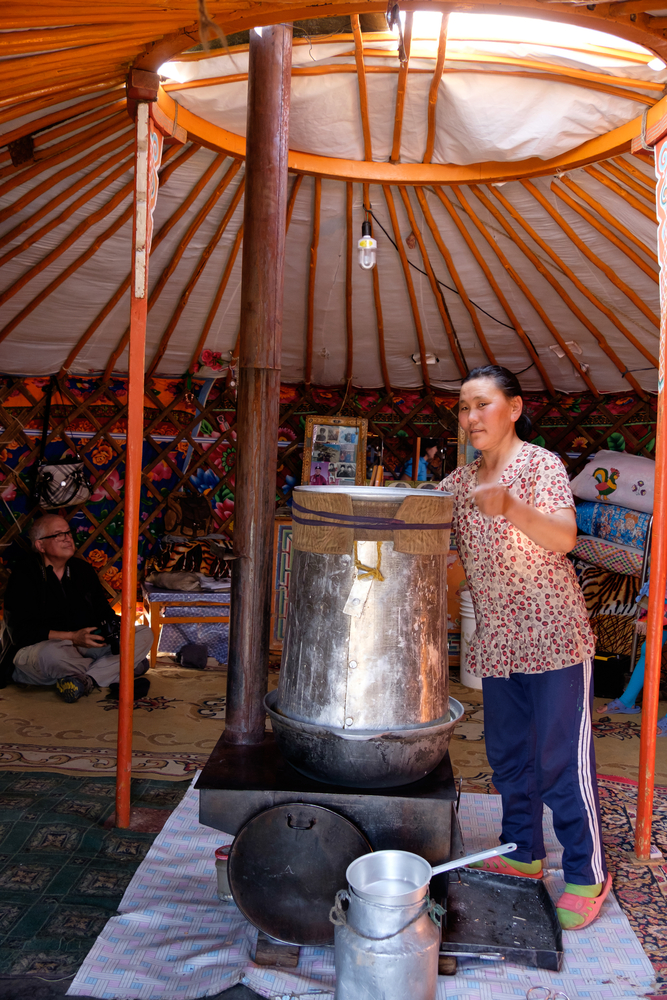 Asia,,Mongolia,,Western,Mongolia,,Lake,Tolbo,,Inside,Ger,,(yurt).,Preparation