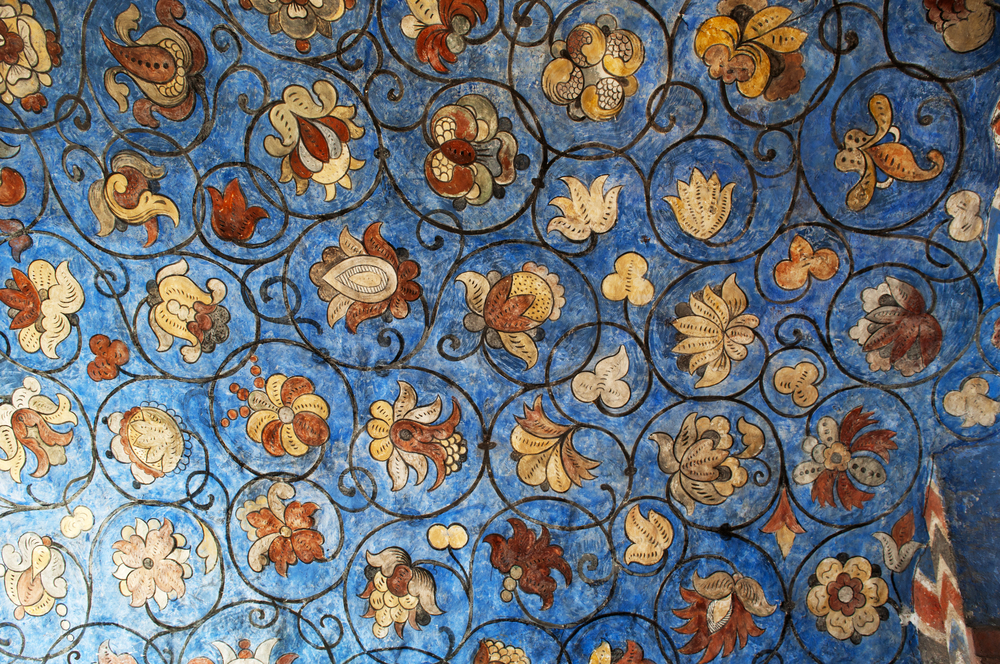 Moscow,,26/04/2017:,Flower,Ornament,(18th,Century),On,The,Ceiling,Of