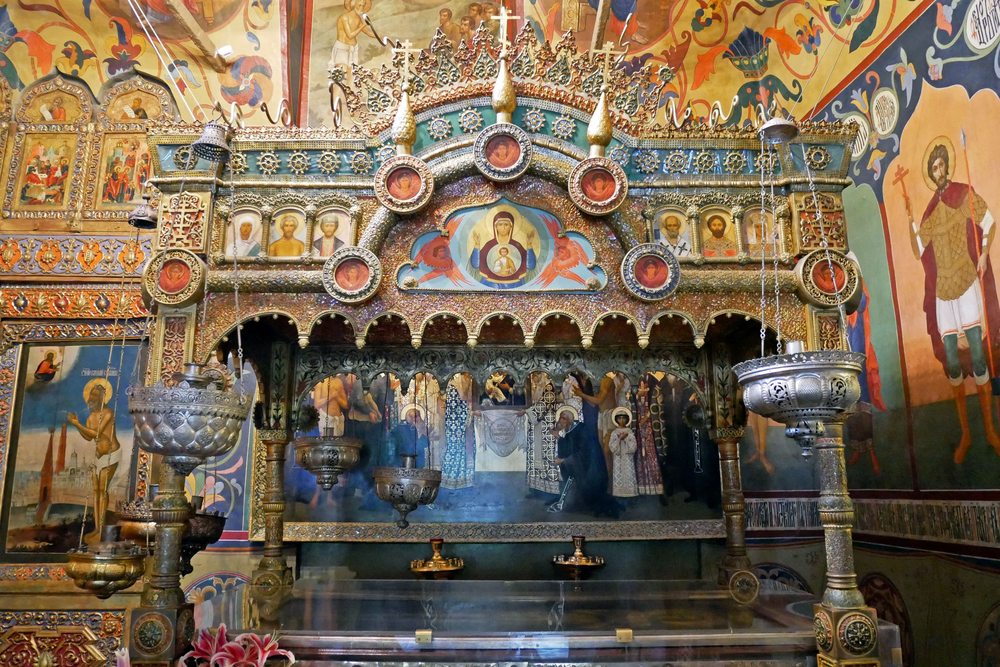 Moscow,,Russia,-,July,30,,2017:,Interior,Of,St.,Basil's